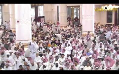 Embedded thumbnail for أذان الجمعة بصوت شيخ المؤذنين بالحرم المكي الشريف - علي بن أحمد ملا من جامع الراجحي بمكة